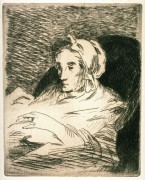 """La Convalescente"" Stock photo of etching and aquatint by Edouard Manet"