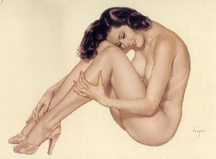 """Legacy Nude #8, """"Nice & Easy"""" Lithograph/Arches by Alberto Vargas"""