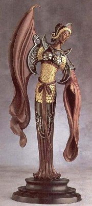 """Chinese Legend"" Bronze Sculpture by Erte"