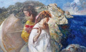 """Brisa Mediterranea"" Original Oil on Canvas by Royo"