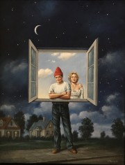 """Illusions"" Original Oil on Canvas by Rafal Olbinski"