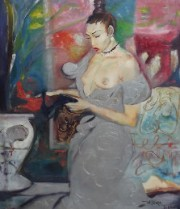'Sensuous Lady' Original Oil on Canvas by Willilam Tolliver