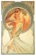 """""""La Poesie (Poetry)"""" 1898 Lithograph by Alphonse Mucha"""