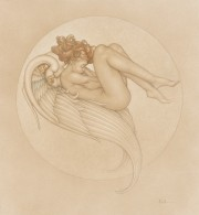 """Angel of August"" Stone Lithograph by Michael Parkes"