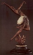 "Erte's ""La Danseuse"" Bronze Sculpture"