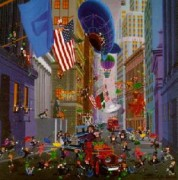 """Wall Street"" Serigraph by Melanie Taylor Kent"