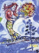 "La Sirene au Pin"" Plate-Signed Lithograph by Marc Chagall"