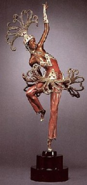 Firedancer bronze sculpture by Erte