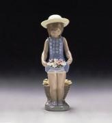"""""""My Flowers"""" Glazed Porcelain Figurine by Llardro"""