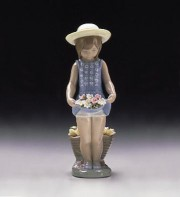 """My Flowers"" Glazed Porcelain Figurine by Llardro"
