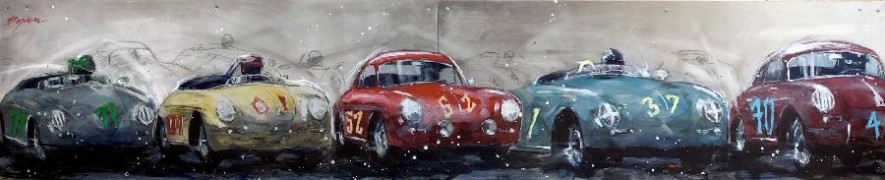 """356 Porsche"" Giclee/Paper or Canvas Or Aluminum by Michael Bryan"