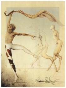 "l'Apres - Midi d'un Faune"" Hand Pulled Stone Lithograph by Michael Parkes"