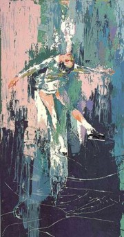 """Winter Olympics, Skating Lake Placid 1980"" Serigraph by LeRoy Neiman"