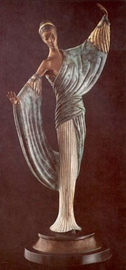 """In The Evening"" Bronze Sculpture by Erte"