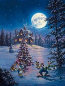 """""""Winter Lights"""" Hand-Embellished Giclee on Canvas by Rodel Gonzalez"""
