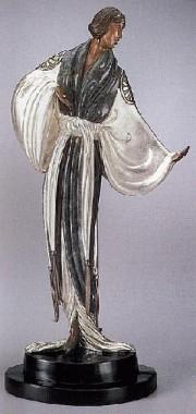 """Belle de Nuit"" Bronze Sculpture by Erte"