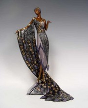 """L'Amour du Vin"" bronze sculpture by Erte"