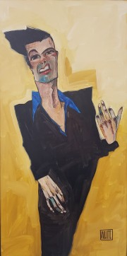 """Living A Johnny Cash Life"" Original Oil on Canvas by Todd White"