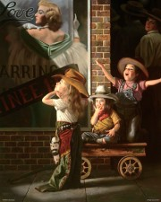 """Matinee"" Giclee on Canvas by Bob Byerley"