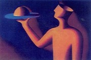"""Service"" Serigraph by Mark Kostabi"