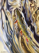 """""""Upper Gros Ventre"""" Giclee on Canvas by AD Maddox"""