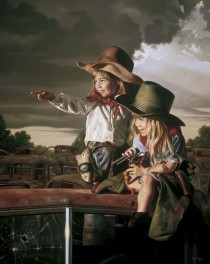 """Deputies"" Lithograph by Bob Byerley"