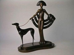 Elegance Bronze sculpture by Erte
