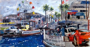 """Welcome to Balboa"" Giclee on Paper by Michael Bryan"