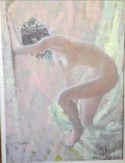 """After Bath"" Original Oil on Canvas by Thornton Utz"