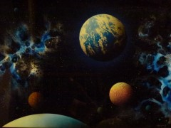 """Earth Journey"" original unique by Dave Archer"
