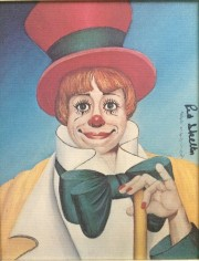 """Clown's Clown"" Serigraph on Canvas by Red Skelton"