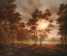 """Irradicated Forest""  Original Oil/Board by Thomas Locker"