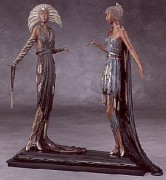 """Two Vamps"" Bronze Sculpture by Erte"