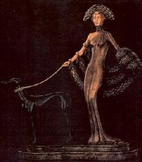 """Elegance"" Bronze Sculpture by Erte"
