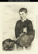 """Le Gamin"" (The Urchin) Stock Photo of etching by Edouard Manet"