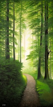 """""""The Emerald Cathedral"""" Giclee on Canvas by Jon Rattenbury"""