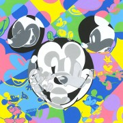 """Multi Mickey"" Hand-Embellished Giclee/Canvas by Tennessee Loveless"