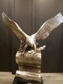 """The American Patriot"" Bronze and Silver Sculpture by Lorenzo Ghiglieri"