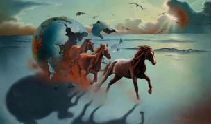 """Running Wild"" Original painting by Jim Warren"