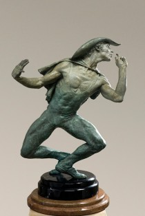 """White Face"" 1/2 Life Size Bronze Sculpture by Richard MacDonald"