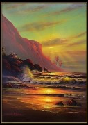 """""""Hawaii Sea Passage"""" Framed remarqued Lassengraph by Christian Riese Lassen"""