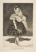"""Lola de Valence"" Stock image of etching by Edouard Manet"