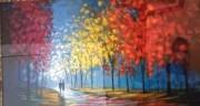 Autumnal Pathway Serigraph on paper by Slava Ilyayev