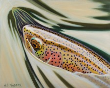 """""""Rainbow Rise"""" Giclee on Canvas by AD Maddox"""