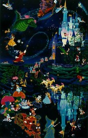 """""""Tokyo Disneyland 10th Anniversary"""" Serigraph with Remarque by Melanie Taylor Kent"""