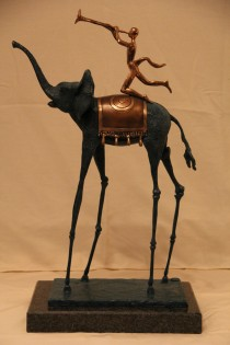 """Triumphant Elephant"" Bronze Sculpture by Salvador Dali"