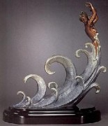 """The Wave"" Bronze Sculpture by Erte"