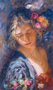 """Luces y Sombras"" Hand-Pulled Serigraph by Royo"