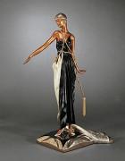 """""""Soleil de Nuit"""" Bronze Sculpture by Erte"""