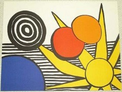 """Sunrise"" unsigned lithograph by Alexander Calder"